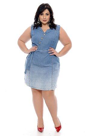 Vestido Chemise Jeans Plus Size Jordane