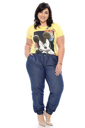Calça Jeans Jogger Plus Size Rosy