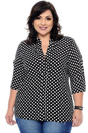 Camisa Poá Plus Size Ryalla