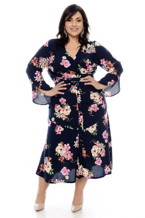 Conjunto Transpassado Plus Size Greany