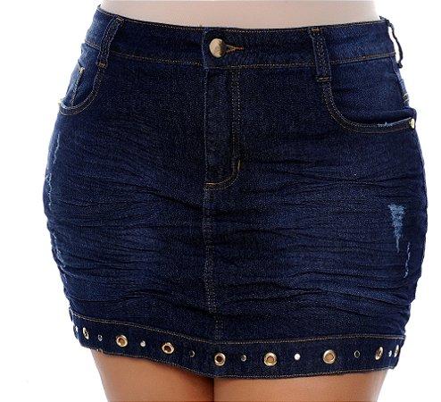 Saia Jeans Plus Size Adriani