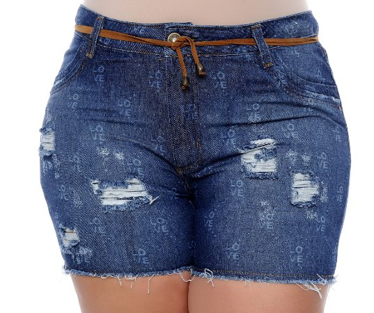 Shorts Jeans Plus Size Luany