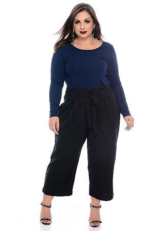 Calça Pantacourt Plus Size Clennyr