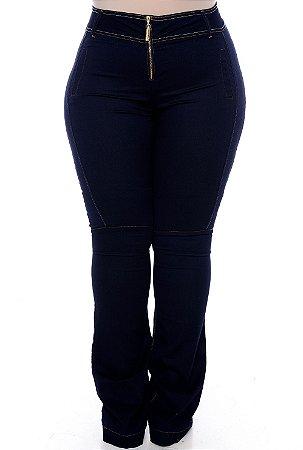 Calça Flare Jeans Plus Size Betania