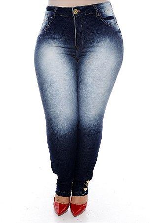 Calça Cigarrete Jeans Plus Size Helany