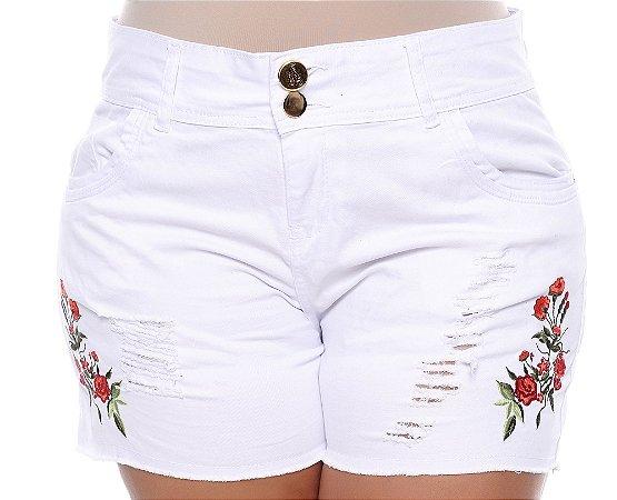 Shorts Branco Plus Size Venny