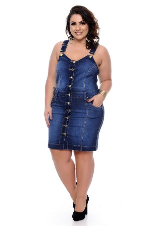 Salopete Jeans Plus Size Ewellin