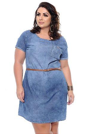 088b53d29 Vestido Jeans Plus Size Kristiny | Daluz Plus Size - Loja Online ...