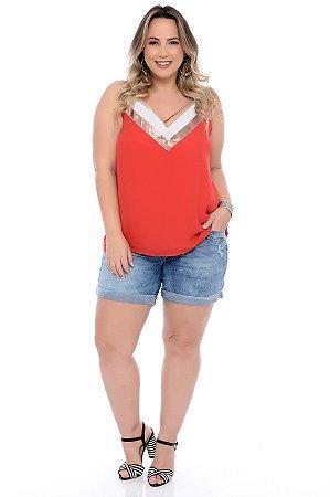 Shorts Jeans Plus Size Danniela