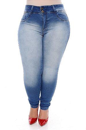 Calça Skinny Jeans Plus Size Kleydy