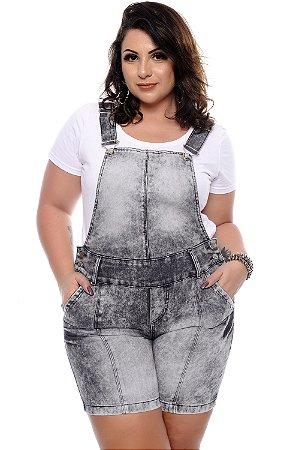 Jardineira Jeans Plus Size Maryanna