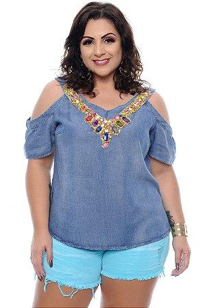 Blusa Jeans Plus Size Ruvvia  623a935d6d80a