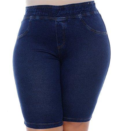Bermuda Ciclista Jeans Plus Size Mirla