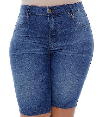 Bermuda Ciclista Jeans Plus Size Adelma