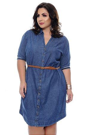 Vestido Chemise Jeans Plus Size Talyce