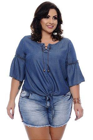 Blusa Bata Jeans Plus Size Leilah