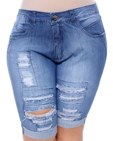 Bermuda Jeans Plus Size Luenny