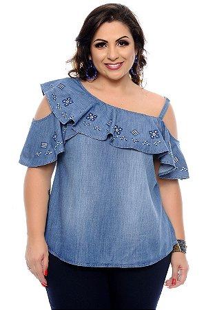 Blusa Jeans Plus Size Revely