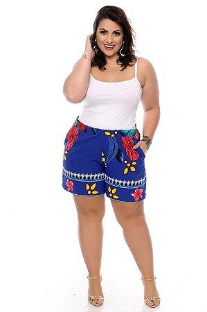 Shorts Crepe Plus Size Nacyh