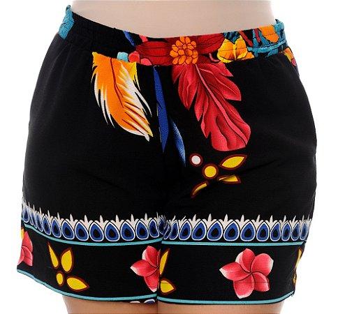 Shorts Crepe Plus Size Wilka