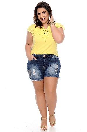 Shorts Jeans Plus Size Sinarah