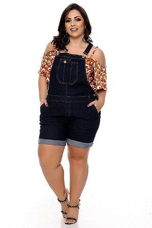 Macaquinho Jeans Plus Size Marchi