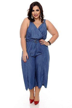 9dc56d05a Macacão Jeans Plus Size Mineya