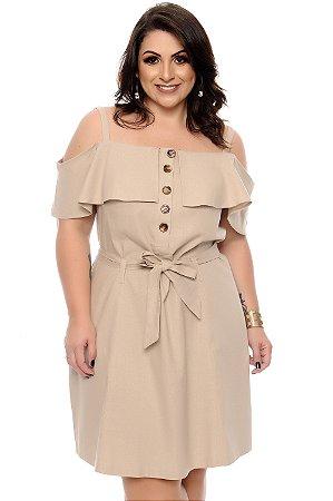 Vestido Linho Plus Size Lyelsa