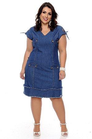 Vestido Jeans Plus Size Avlis