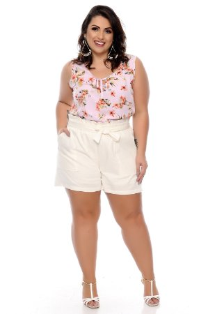 Shorts Linho Plus Size Kallesy