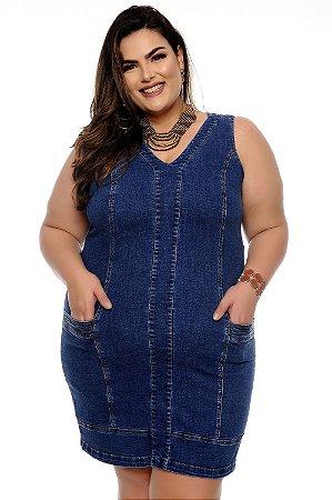 Vestido Jeans Plus Size Kharina