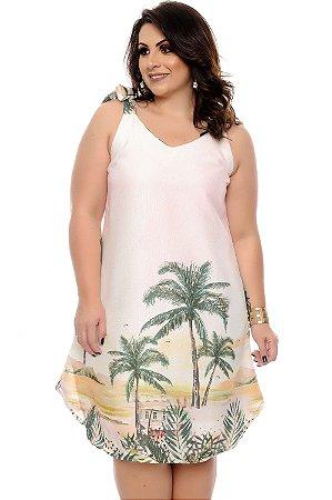 8025ec5319 Vestido Linho Plus Size Dwi
