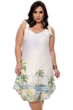 Vestido Linho Plus Size Nehme