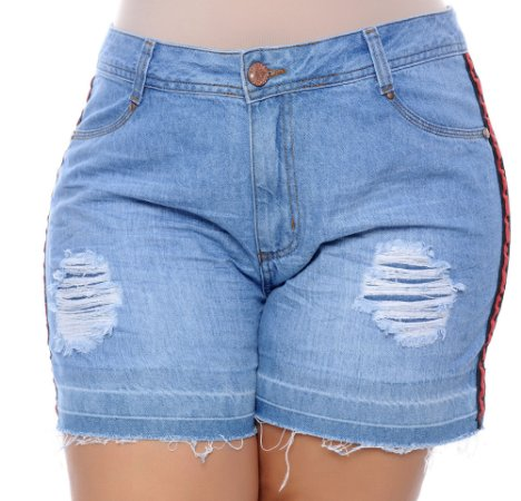 Shorts Jeans Plus Size Galbe