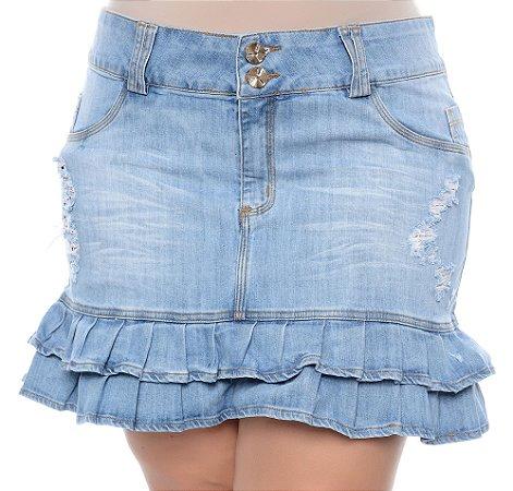 Saia Jeans Plus Size Levana
