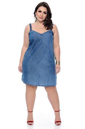 b1d62f464491 Vestido Jeans Plus Size Marinara | Daluz Plus Size - Loja Online ...