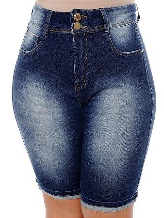 Bermuda Ciclista Jeans Plus Size Rainara