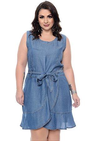 a3263b5e0 Vestido Jeans Plus Size Amaliah | Daluz Plus Size - Loja Online ...