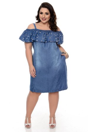 Vestido Jeans Plus Size Sheylla
