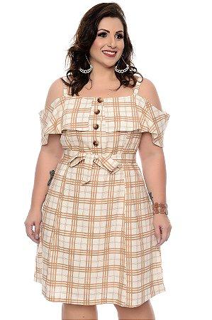 Vestido Linho Plus Size Driman
