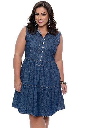 161c48ed3d33 Vestido Jeans Plus Size Jerusa| Daluz Plus Size - Loja Online ...