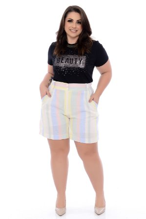 Shorts de Linho Plus Size Willy