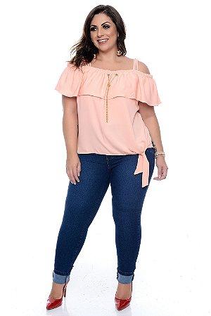 ba371da79 Blusa Ciganinha Plus Size Sintia - Daluz Plus Size | Loja Online