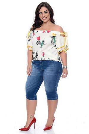 fde15bbf3d Bermuda Maria João Plus Size Linnie - Daluz Plus Size