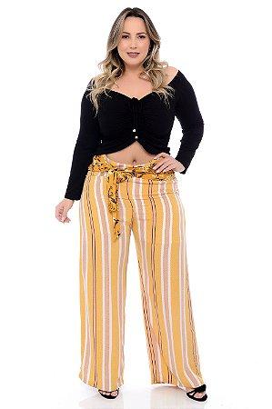 Calça Pantalona Plus Size Quezia