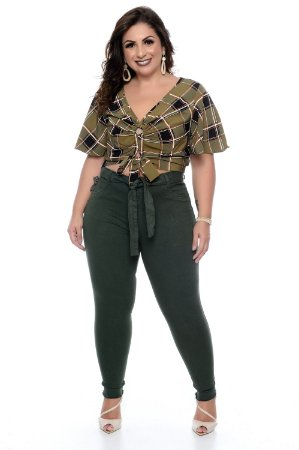 Blusa Cropped Plus Size Nicoly