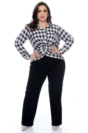 Camisa Xadrez Plus Size Emilya