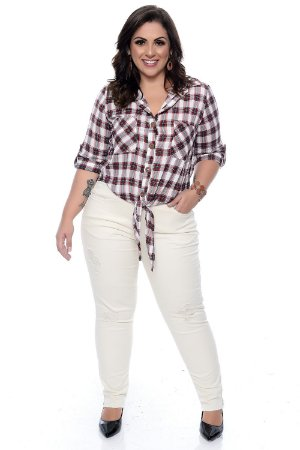 Camisa Xadrez Plus Size Arizona