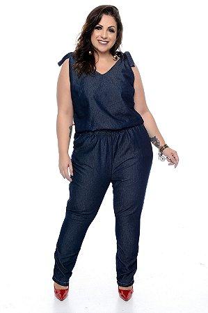 Macacão Jeans Plus Size Luizza
