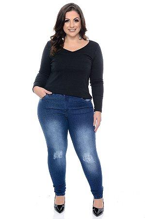 Blusa Canelada Plus Size Niela